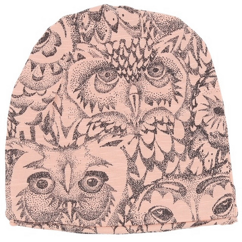 Soft Gallery Beanie Owl (Coral)