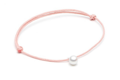 Louise Kragh Freshwater Pearl Bracelet (White/Light Pink)