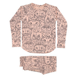 Soft Gallery Elliot Pyjamas Owl (Coral)