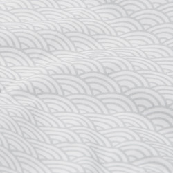 Cam Cam Doll Bedding (Grey Wave)