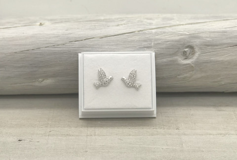 Sterling silver earrings bird zirkon