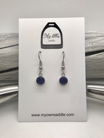 Earrings, blue