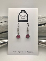 Earrings, pink