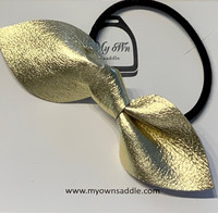 Arctic -leather hair bobble big, gold