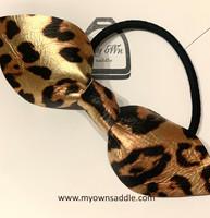 Arctic -nahkainen hiuslenkki iso, leopardi