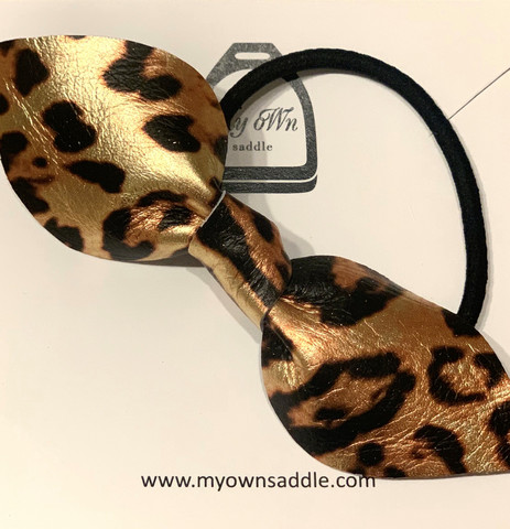 Arctic -leather hair bobble big, leopard