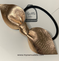 Arctic -leather hair bobble big, Rose gold