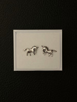 Sterling silver earrings, unicorn horse
