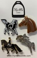 Horse  pins 4pcs