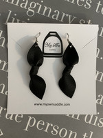 Arctic -leather earrings big, black