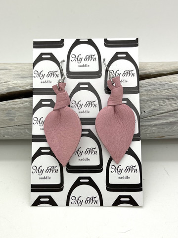 Arctic -leather earrings small, light pink