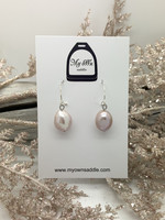 Sterling Silver 925 earrings, freshwater pearl, light pink