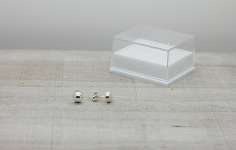 Sterling silver earrings 6mm