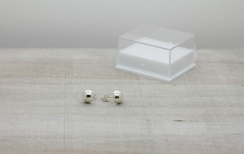Sterling silver earrings 8 mm