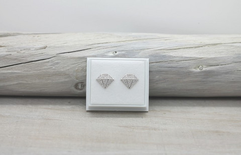 Sterling silver earrings with zirconia,