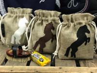 Heppaherkkujen säilytyspussi, ruskea hevonen