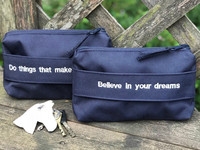 NEW COLOR; Believe in your dreams -bag, blue