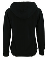 Equithème zipped sweatshirt with hood, black
