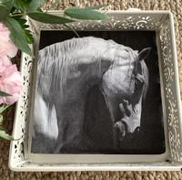 Paper napkin, horse