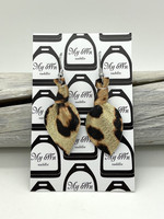 Arctic -leather earrings small, leopard