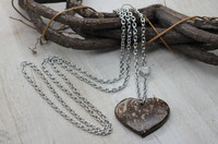 Coconut Heart necklace