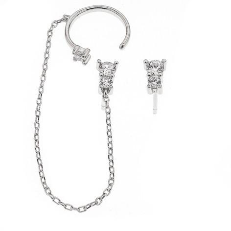 Silver Bar- Hybrid cuffs kivi, korvakorut. USEITA VÄREJÄ!