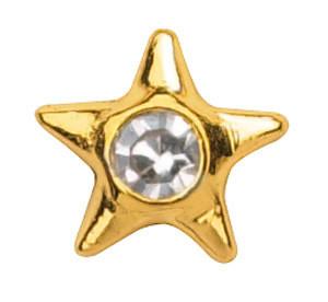 Hammaskoru- Tähti timantilla, keltakulta