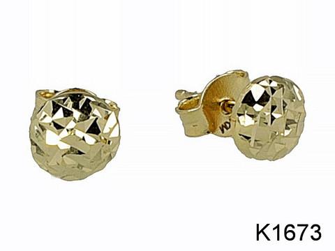 JKM- Puolipallo korvakorut, kultaa