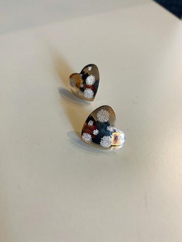 JKM- Sydän, hopeakorvakorut