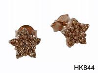 JKM- Korvakorut, hopea. Ruusukullattu