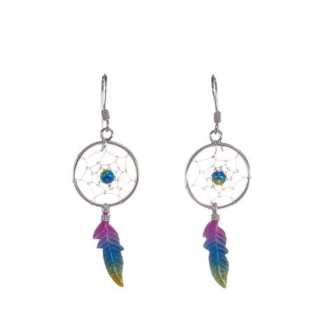 Silver Bar- Unensieppaaja rainbow, korvakorut