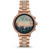 Fossil- Venture HR älykello. Rose Gold Stainless Steel