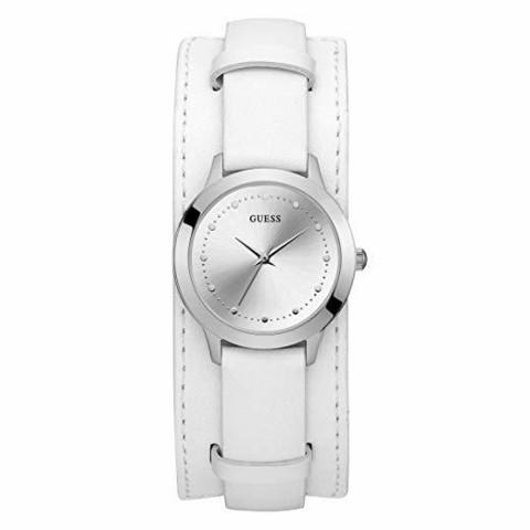 GUESS- Chelsea Cuff Nahka Valkoinen, naisten kello