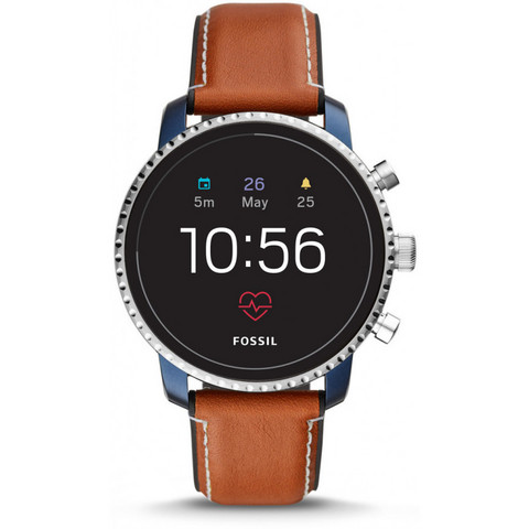 Fossil- Explorist HR älykello. Tan Leather