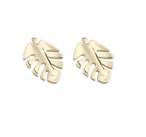 Snö of Sweden- Hyde Leaf Small Earring