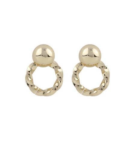 Snö of Sweden- Turn Small Pendant Earring