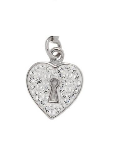 Silver Bar- Keyhole heart , hopeakorvakorut. USEITA VÄREJÄ!