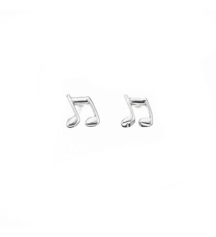 Silver Bar- Nuotti plain, hopeakorvakorut