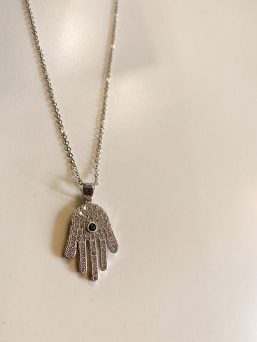 Teräskoru- Fatima, käsi. Kaulakoru