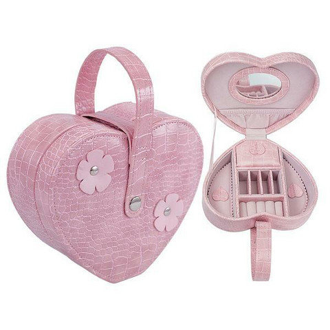 Korulaukku- vaaleanpunainen, sydämenmuotoinen