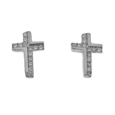 Silver Bar- Cross korvis. Hopeakorvakorut