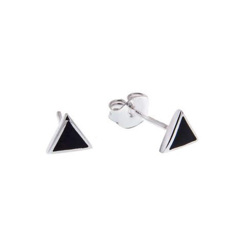 Silver Bar- Triangle 6mm, teräskorvakorut