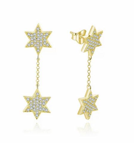 Silver Bar- Star+Star, hopeakorvakorut. USEITA VÄREJÄ!