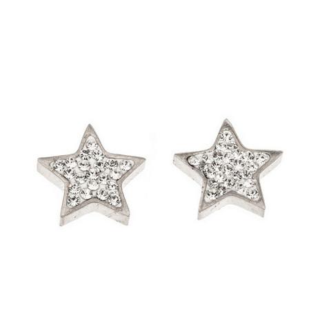 Silver Bar- Tähti krysantti, hopeakorvakorut