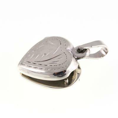 Silver Bar- Sydän medaljonki, hopeariipus