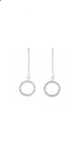 Classic silver- Chain bling, hopeakorvakorut