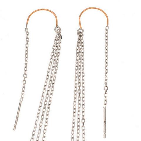 Silver Bar- Chain, hopeakorvakorut