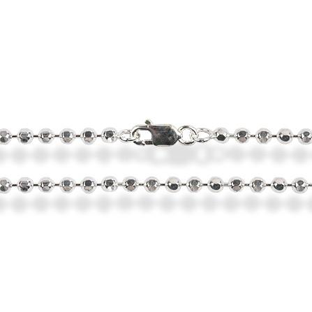 Korutuote Oy- Hopeaketju 45cm Beads Diamond palloketju