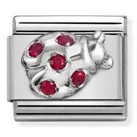 Nomination Italy- Classic SilverShine Symbols Red Ladybug