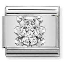 Nomination Italy- Classic SilverShine Symbols White Teddybear